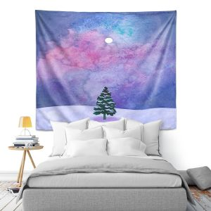 Artistic Wall Tapestry | Rachel Brown - Winter Tree | Nature Trees Snow Christmas Holidays