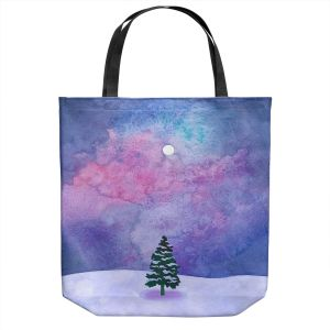 Unique Shoulder Bag Tote Bags | Rachel Brown - Winter Tree | Nature Trees Snow Christmas Holidays