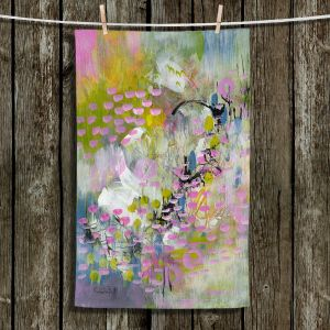 Unique Hanging Tea Towels | Rina Patel Art - Calla Lillies | Abstract Floral Flower