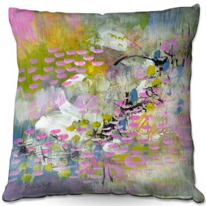 Throw Pillows Decorative Artistic | Rina Patel Art - Calla Lillies | Abstract Floral Flower