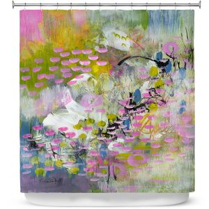 Premium Shower Curtains | Rina Patel Art - Calla Lillies | Abstract Floral Flower