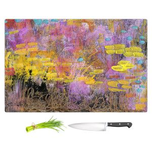 Artistic Kitchen Bar Cutting Boards | Rina Patel Art - Go With the Heart | Abstract Floral Flower