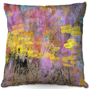 Throw Pillows Decorative Artistic | Rina Patel Art - Go With the Heart | Abstract Floral Flower
