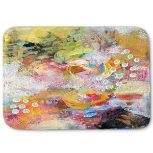 Decorative Bathroom Mats | Rina Patel Art - Happy Dance | Abstract Floral Flower