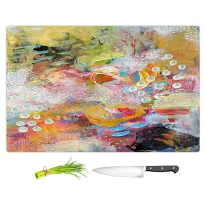 Artistic Kitchen Bar Cutting Boards | Rina Patel Art - Happy Dance | Abstract Floral Flower