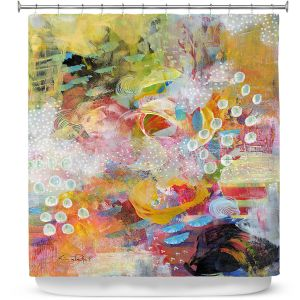 Premium Shower Curtains | Rina Patel Art - Happy Dance | Abstract Floral Flower