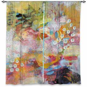Decorative Window Treatments | Rina Patel Art - Happy Dance | Abstract Floral Flower