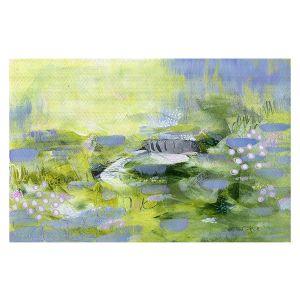 Decorative Floor Covering Mats | Rina Patel Art - Lavender Mist | Abstract Floral Flower