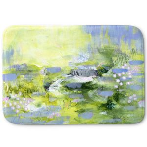 Decorative Bathroom Mats | Rina Patel Art - Lavender Mist | Abstract Floral Flower