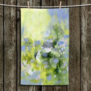 Unique Bathroom Towels | Rina Patel Art - Lavender Mist | Abstract Floral Flower