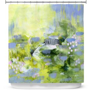 Premium Shower Curtains | Rina Patel Art - Lavender Mist | Abstract Floral Flower