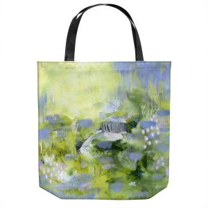 Unique Shoulder Bag Tote Bags | Rina Patel Art - Lavender Mist | Abstract Floral Flower