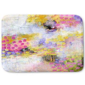 Decorative Bathroom Mats | Rina Patel Art - Morning Mist | Abstract Floral Flower