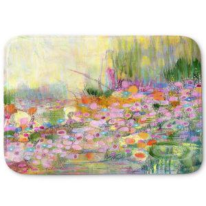 Decorative Bathroom Mats | Rina Patel Art - Poppies | Abstract Floral Flower