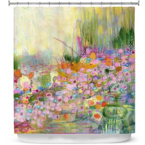 Premium Shower Curtains | Rina Patel Art - Poppies | Abstract Floral Flower