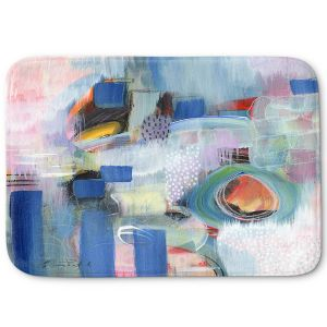 Decorative Bathroom Mats | Rina Patel Art - Rain Walk | Abstract Floral Flower