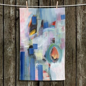 Unique Hanging Tea Towels | Rina Patel Art - Rain Walk | Abstract Floral Flower