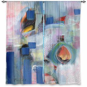 Decorative Window Treatments | Rina Patel Art - Rain Walk | Abstract Floral Flower