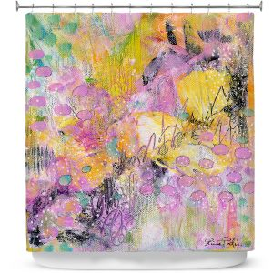 Premium Shower Curtains | Rina Patel Art - Snow Drops | Abstract Floral Flower