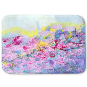 Decorative Bathroom Mats | Rina Patel Art - Spring Has Sprung 1 | Abstract Floral Flower