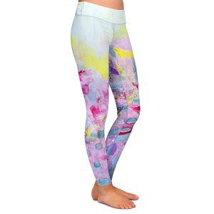 Casual Comfortable Leggings   Rina Patel Art - Spring Has Sprung 1   Abstract Floral Flower