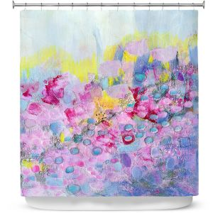 Premium Shower Curtains | Rina Patel Art - Spring Has Sprung 1 | Abstract Floral Flower