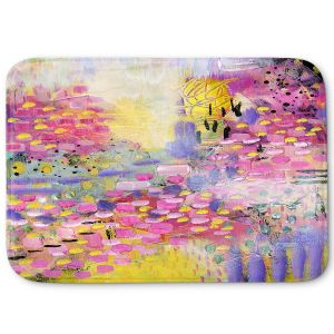 Decorative Bathroom Mats | Rina Patel Art - Spring Has Sprung 2 | Abstract Floral Flower