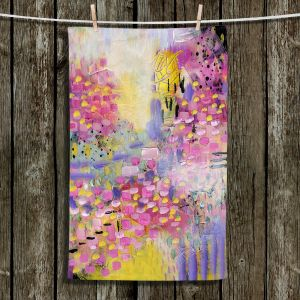 Unique Bathroom Towels | Rina Patel Art - Spring Has Sprung 2 | Abstract Floral Flower