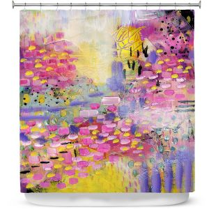 Premium Shower Curtains | Rina Patel Art - Spring Has Sprung 2 | Abstract Floral Flower