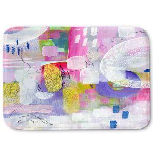 Decorative Bathroom Mats | Rina Patel Art - Tulip Fields | Abstract Floral Flower