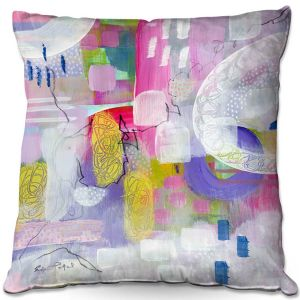 Throw Pillows Decorative Artistic | Rina Patel Art - Tulip Fields | Abstract Floral Flower