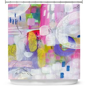 Premium Shower Curtains | Rina Patel Art - Tulip Fields | Abstract Floral Flower