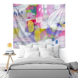 Artistic Wall Tapestry | Rina Patel Art - Tulip Fields | Abstract Floral Flower