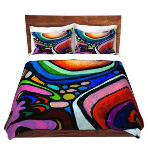Artistic Duvet Covers and Shams Bedding | Robin Mead - Abstract Color Culture | Abstract