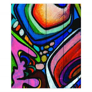 Decorative Wood Plank Wall Art   Robin Mead - Abstract Color Culture   Abstract