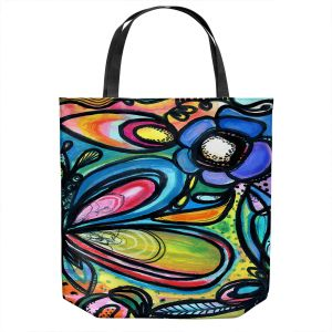 Unique Shoulder Bag Tote Bags | Robin Mead - Abstract Dazzle | Flower Abstract