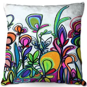 Throw Pillows Decorative Artistic | Robin Mead - Abstract Spice of Life | Flower Abstract