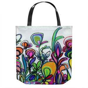 Unique Shoulder Bag Tote Bags | Robin Mead - Abstract Spice of Life | Flower Abstract