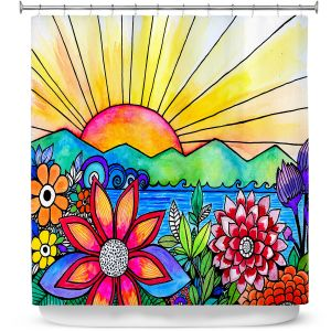 Premium Shower Curtains | Robin Mead - Aloha