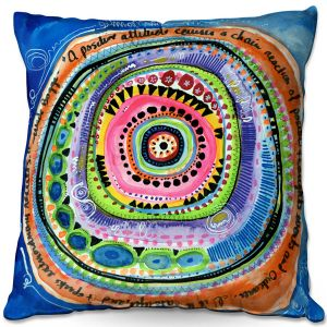 Decorative Outdoor Patio Pillow Cushion | Robin Mead - Attitude | Abstract Geometric Pattern