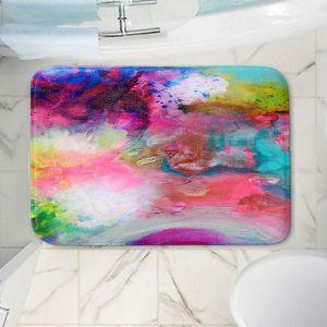 Decorative Bathroom Mats | Robin Mead - Aura 1 | abstract painterly brushtrokes