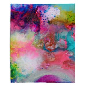 Artistic Sherpa Pile Blankets | Robin Mead - Aura 1 | abstract painterly brushtrokes