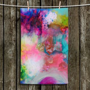 Unique Hanging Tea Towels | Robin Mead - Aura 1 | abstract painterly brushtrokes