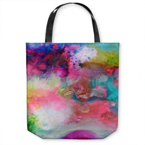 Unique Shoulder Bag Tote Bags | Robin Mead - Aura 1 | abstract painterly brushtrokes