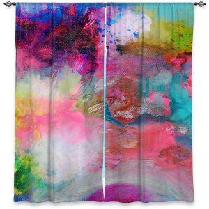 Decorative Window Treatments | Robin Mead - Aura 1 | abstract painterly brushtrokes