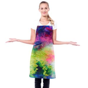 Artistic Bakers Aprons | Robin Mead - Aura 2 | abstract painterly brushtrokes