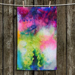 Unique Bathroom Towels | Robin Mead - Aura 2 | abstract painterly brushtrokes
