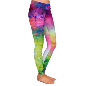 Casual Comfortable Leggings   Robin Mead - Aura 2   abstract painterly brushtrokes