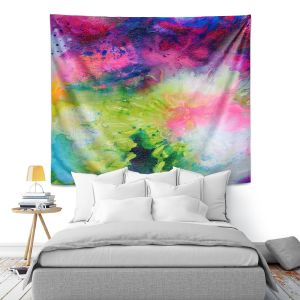 Artistic Wall Tapestry | Robin Mead - Aura 2 | abstract painterly brushtrokes