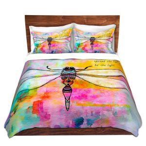 Artistic Duvet Covers and Shams Bedding   Robin Mead - Beneath the Surface   Abstract Shapes
